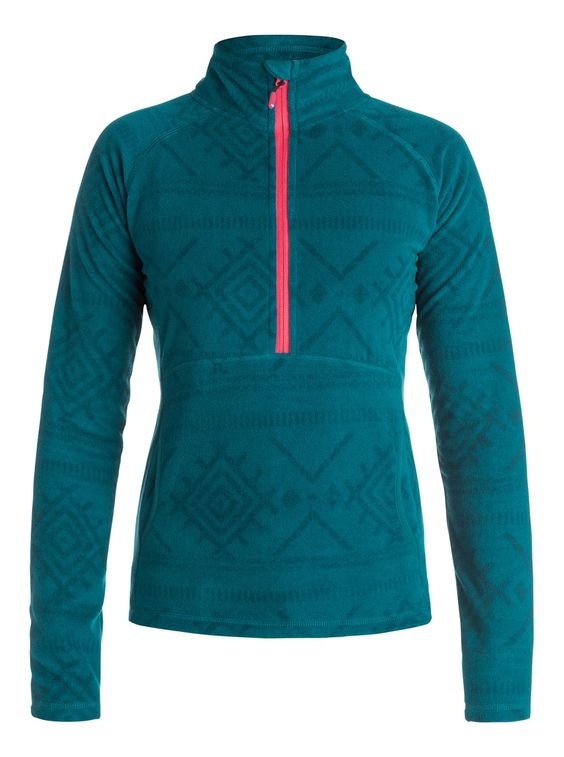 roxy, Cascade - Half-Zip Fleece-Pullover, WINDY ROAD LAYERS_CAMELLIA (mjw8)