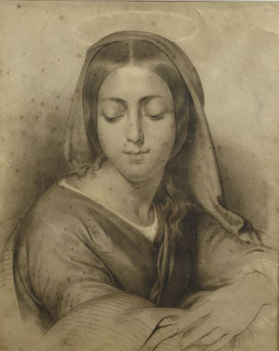 Pananti Casa d'aste - Hayez Francesco : Santa  (1842)  - Matita su carta - Asta Antiquariato - Mobili, dipinti, stampe e oggetti - I - Galleria Pananti - Casa d'Aste
