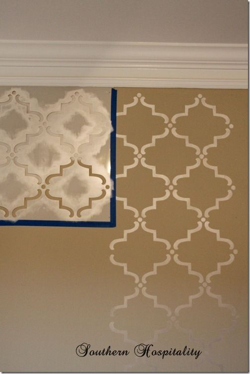 Wall stenciling (tutorial)