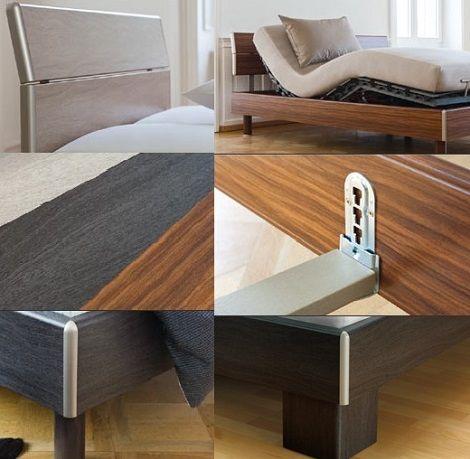 Swissflex bed classic swissbed kersen, eiken donker, eiken licht, kersenhout 140, 160, 180,200 cm.jronde poot of hoekpoot titanium accent slaapkenner theo bot ledikant