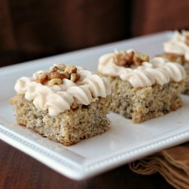 Roasted bananas are the flavor base for this moist cake.