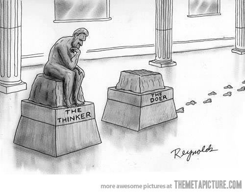 Image result for tv thinker statue political cartoon