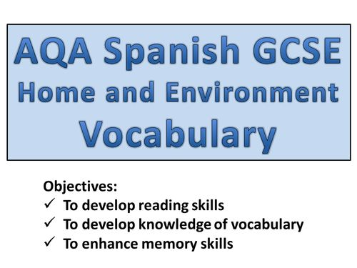 Gcse Spanish Vocabulary Revision Sheets School Study Tips