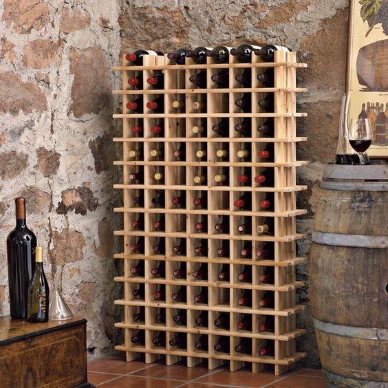 Pine Wine Cellar Racks