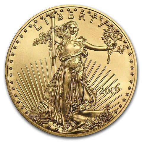 2019 1 10 Oz Gold American Eagle Bu Gold American Eagle Gold Coins Eagle Coin