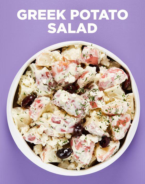 ... greek potato salads greek potatoes potatoes salads feta olives recipe
