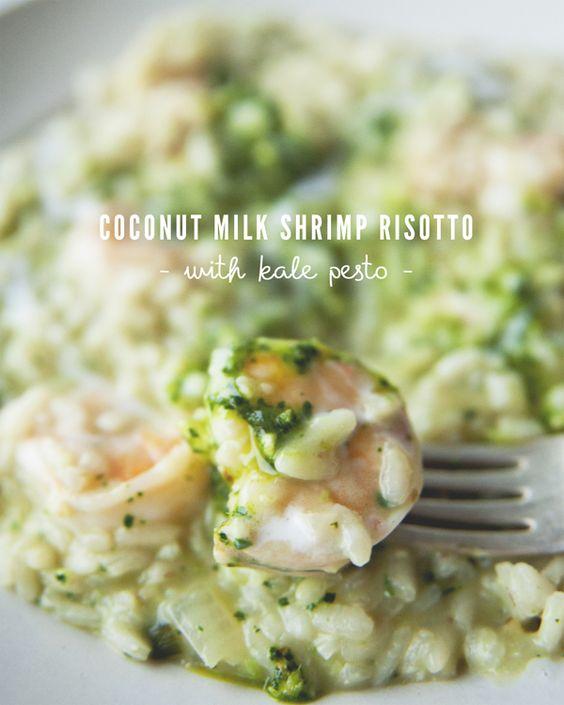 Recipe Box: Coconut Milk Risotto with Shrimp and Kale Pesto