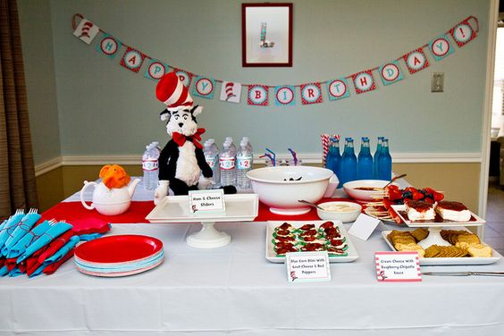 Cat in The Hat Birthday Party by foodiebride