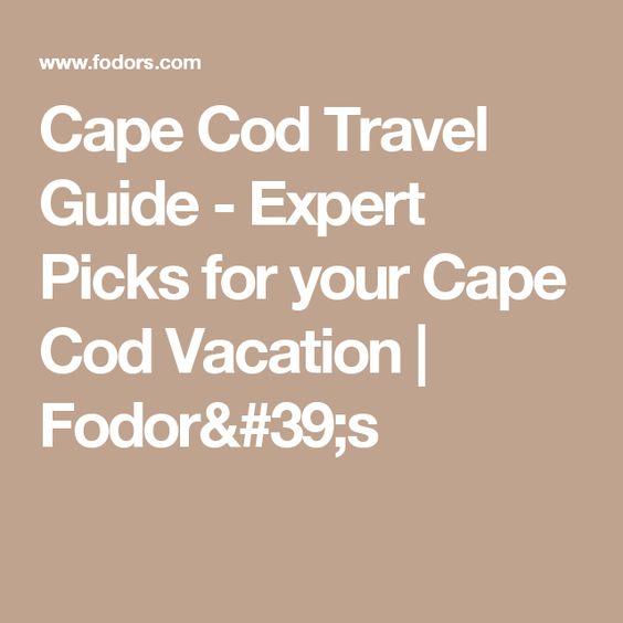 fodors cape cod