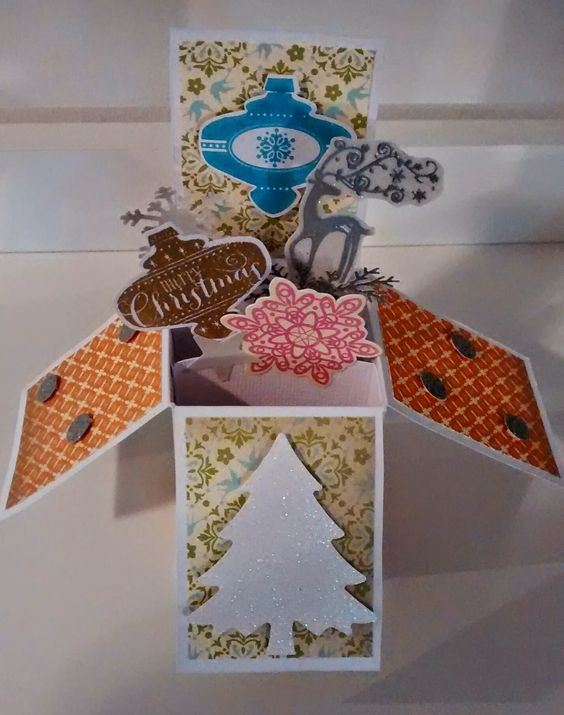 Christmas card in a box. You can find a link to a tutorial on my blog.