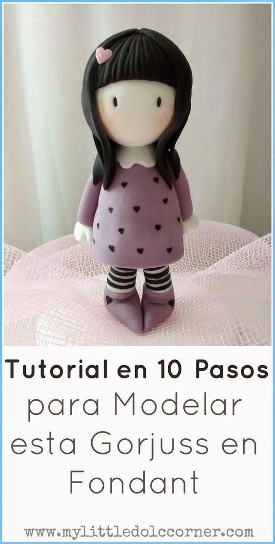My Little Dolç Corner: Modela en 10 pasos una muñeca Gorjuss en Fondant By Irina Sanz                                                                                                                                                      Más