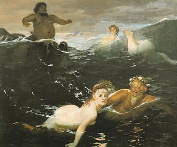 The Waves 1883 by Arnold Böcklin.
