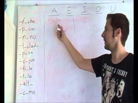 """Solución """"Las vocales"""" spanishfspain"""
