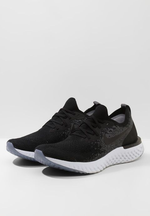 Increíble Mejor Padre  Nike Performance EPIC REACT FLYKNIT - Zapatillas de running neutras -  black/dark grey/pure platinum - Zalando.es | Pure platinum, Dark black,  Flyknit
