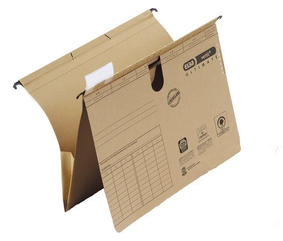 """Elba 100552067 Taschenhefter """"vertic ULTIMATE"""", flexible Ablage: Hängehefter und Tasche, 25er Pack, naturbraun: Amazon.de: Bürobedarf & Schreibwaren"""