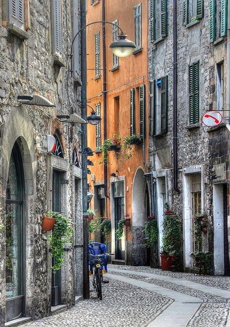 Streets of Milan ~~<3~~ Every step I took in All of Italy was breath taking, So lovely.: