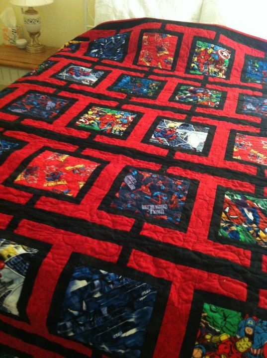 Spiderman Quilt And Quilt Patterns On Pinterest