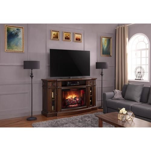 Scott Living68 In W Chestnut Infrared Quartz Electric Fireplace