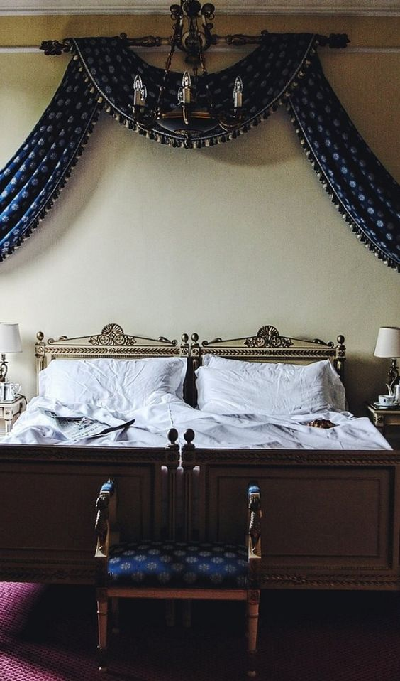 A guest bedroom in Villa d'Este. See more photos of the hotel on Lake Como.