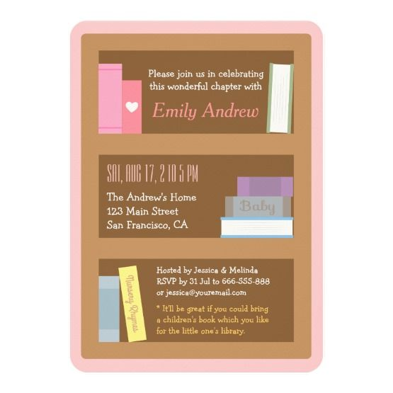 Book Themed Baby Shower Invitations