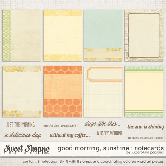 Journaling cards for digital Project Life by Sugarplum Paperie $1.99