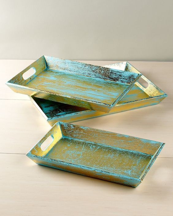 Set of 3 Handcrafted Trays: Events, Handcrafted Trays