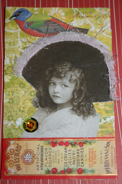 Girl with feather hat collage by DianthusMoon, via Flickr