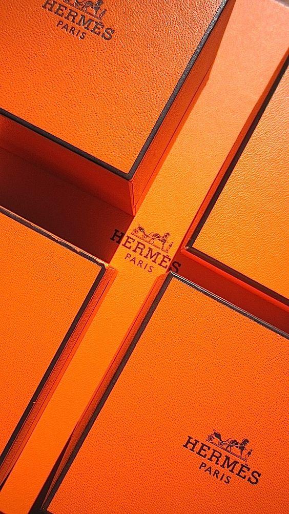 Orange hermes boxes