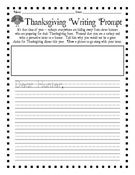 turkey writing prompts Writing prompts for kids when i was in 6th grade, i had a wonderful language arts teacher named mrs reinhardt each morning, she would write a writing prompt on the chalkboard as a warm up exercise.