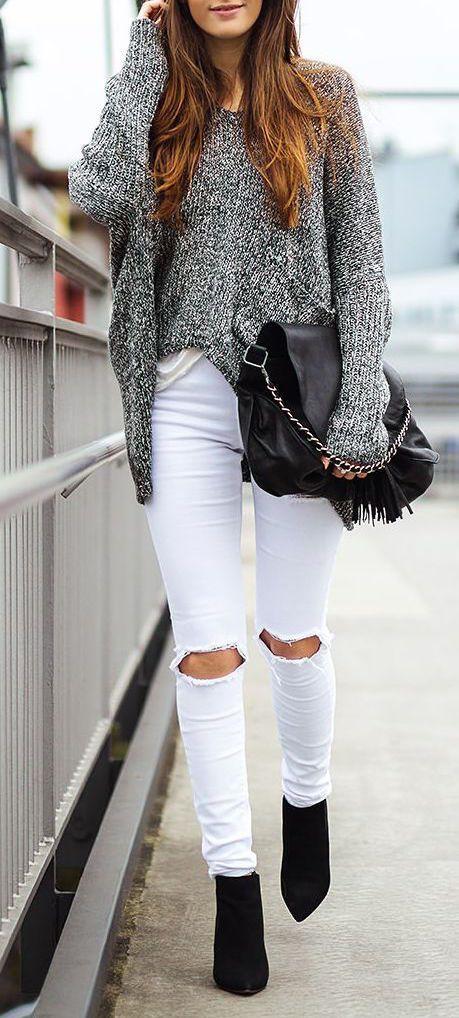 Looks que te animarán a romper tus jeans en la zona de las rodillas
