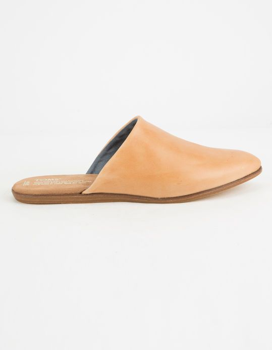 TOMS Honey Leather Jutti Womens Mules - TAN - 315932412   Women's mules,  Jutti, Toms shoes outlet