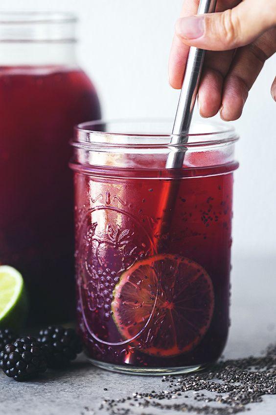 Blackberry & Lime Chia Fresca | Blackberries, Limes and Antioxidant ...