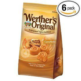 Werther`s Original Caramel CaraMelts, Chocolate, 5.2-Ounce (Pack of 6)
