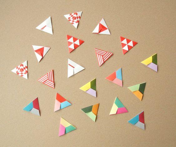 DIY Origami Triangles
