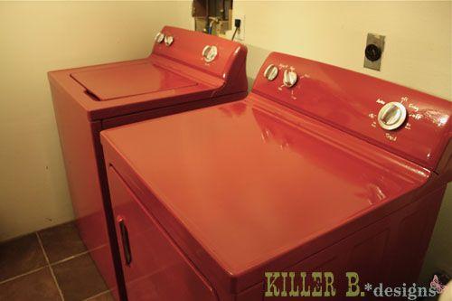 DIY:: Ten Dollar Washer & Dryer Makeover !