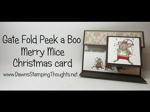 Gate Fold Peek a Boo card using Merry Mice stamp set from Stampin'Up! - YouTube