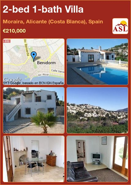 2-bed 1-bath Villa in Moraira, Alicante (Costa Blanca), Spain ►€210,000 #PropertyForSaleInSpain