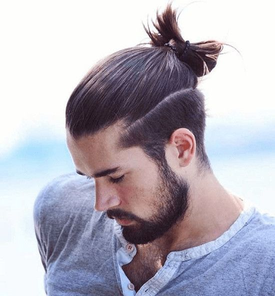 Top Knot Hairstyle 2020 In 2020 Top Knot Hairstyles Top Knot Men Man Bun Hairstyles