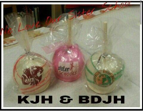 Katy Junior high & Berkondoff Junior high custom candy apples