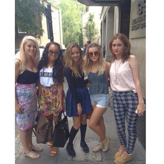 leigh jade and perrie with fans