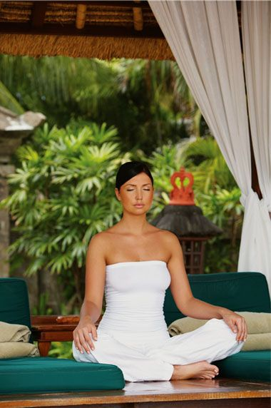 Breath deep. A few minutes of quiet contemplation is a great way to relax and help relieve stress.