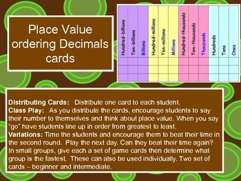 math worksheet : place value  ordering decimals flashcards and lining up activity  : Lining Up Decimals Worksheet