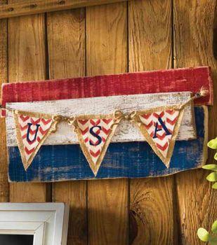 USA Repurpose Wood Flag