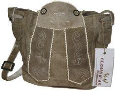 Trachten Handtasche Echtleder Leder dunkelbraun Dirndltasche Trachtentasche Typ2