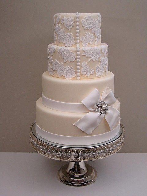 wedding dress button cake
