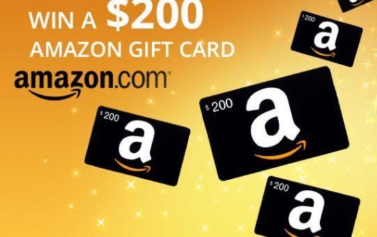 Win A 200 Amazon Gift Card Free Us Free Competitions Amazon Gift Card Free Amazon Gift Cards Gift Card Generator