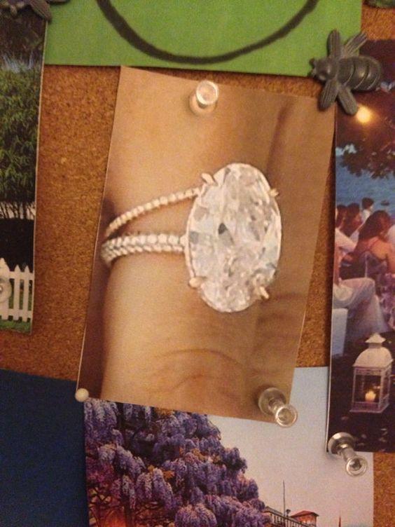 3.97ct Blake Lively Oval Engagement Ring Moissanite by blueriver47