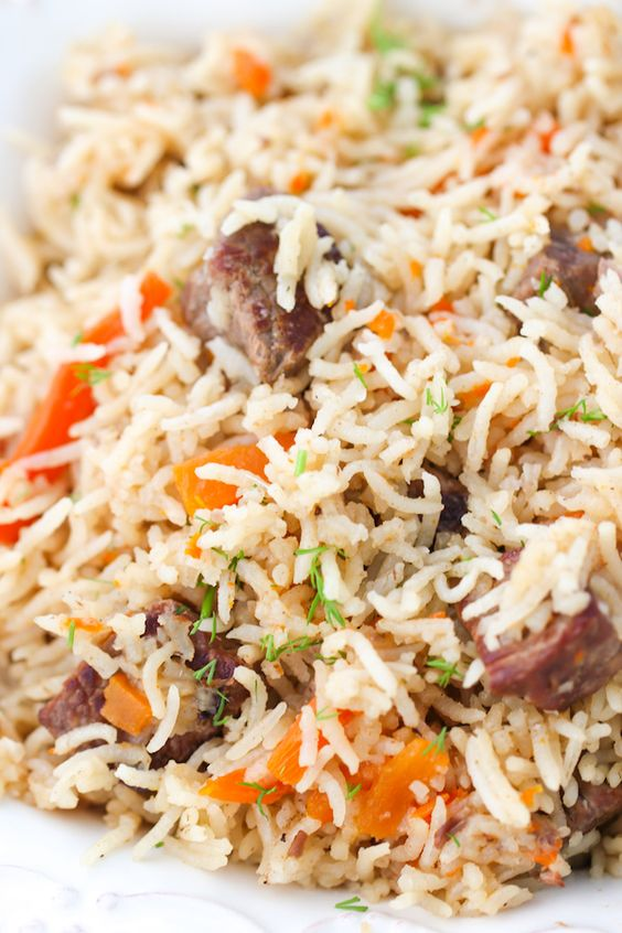 Instant Pot Beef and Rice Pilaf