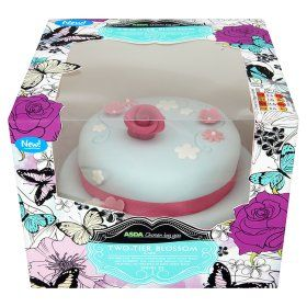 Cake Decorations At Asda : bargain ASDA Chosen by you Two-Tier Blossom Cake Harriet ...