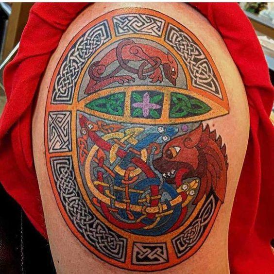 Celtic Dragon Tattoo by Scottie DeVille                                                                                                                                                                                 More